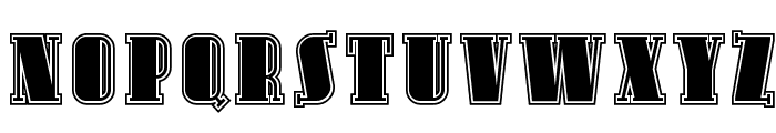 SF Avondale Inline Font UPPERCASE