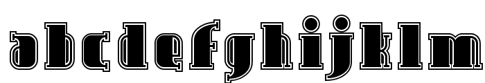 SF Avondale Inline Font LOWERCASE