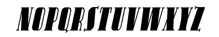 SF Avondale SC Cond Italic Font UPPERCASE