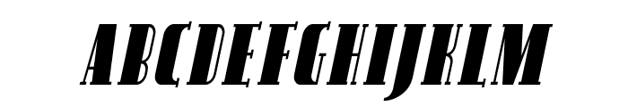SF Avondale SC Cond Italic Font LOWERCASE
