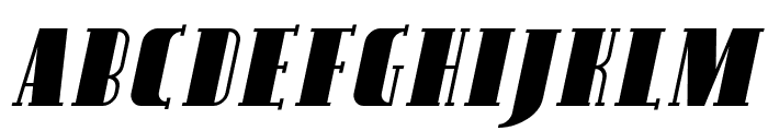 SF Avondale SC Italic Font UPPERCASE