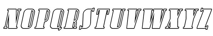 SF Avondale SC Outline Italic Font LOWERCASE
