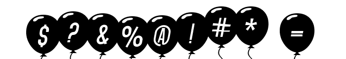 SF Balloons Italic Font OTHER CHARS