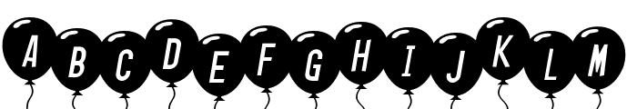 SF Balloons Italic Font UPPERCASE