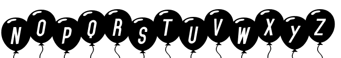 SF Balloons Italic Font LOWERCASE