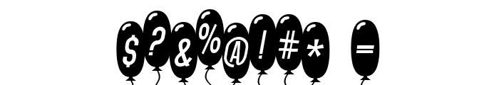 SF Balloons Thin Italic Font OTHER CHARS