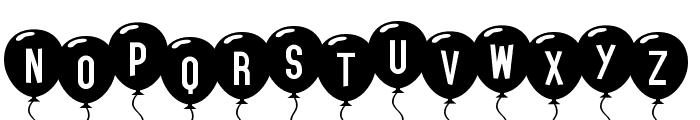 SF Balloons Font UPPERCASE