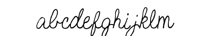 SF-Bobbi2 Font LOWERCASE