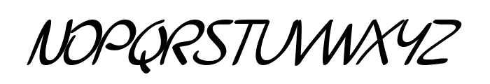 SF Burlington Script Bold Italic Font UPPERCASE