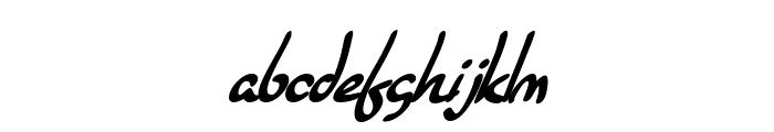 SF Burlington Script Bold Italic Font LOWERCASE