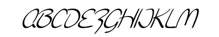 SF Burlington Script Italic Font UPPERCASE
