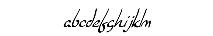 SF Burlington Script Italic Font LOWERCASE
