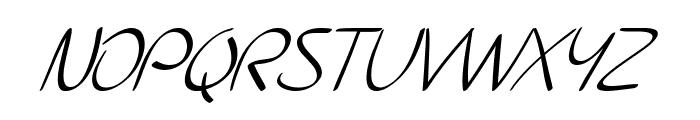 SF Burlington Script SC Italic Font UPPERCASE