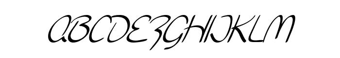 SF Burlington Script SC Italic Font LOWERCASE