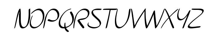 SF Burlington Script Font UPPERCASE