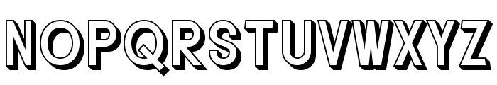 SF Buttacup Lettering Shaded Font LOWERCASE