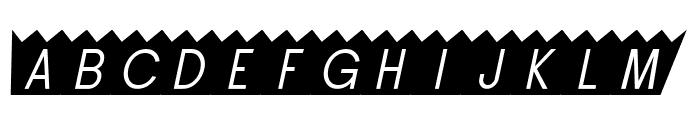 SF Buttacup Oblique Font LOWERCASE
