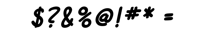SF Cartoonist Hand Bold Italic Font OTHER CHARS