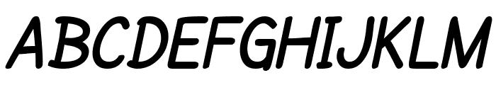 SF Cartoonist Hand Bold Italic Font UPPERCASE