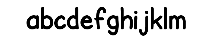 SF Cartoonist Hand Bold Font LOWERCASE