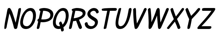 SF Cartoonist Hand SC Bold Italic Font LOWERCASE