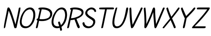 SF Cartoonist Hand SC Italic Font UPPERCASE