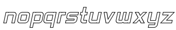 SF Chaerilidae Outline Oblique Font LOWERCASE