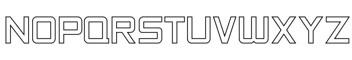 SF Chaerilidae Outline Font UPPERCASE