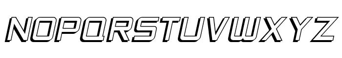 SF Chaerilidae Shaded Oblique Font UPPERCASE