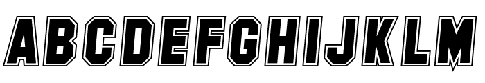 SF Collegiate Italic Font UPPERCASE