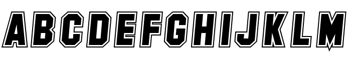 SF Collegiate Italic Font LOWERCASE