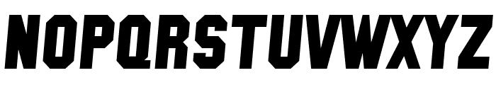 SF Collegiate Solid Bold Italic Font UPPERCASE