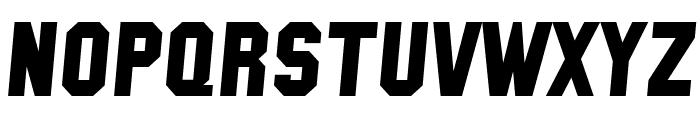 SF Collegiate Solid Italic Font UPPERCASE