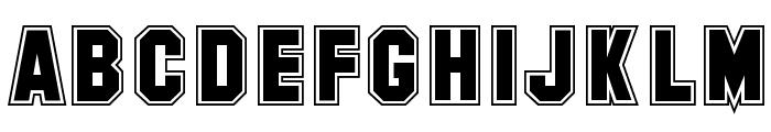 SF Collegiate Font UPPERCASE