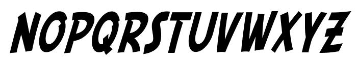 SF Comic Script Condensed Font UPPERCASE