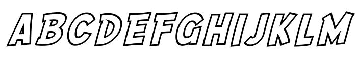 SF Comic Script Outline Font LOWERCASE