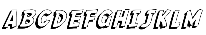 SF Comic Script Shaded Font UPPERCASE