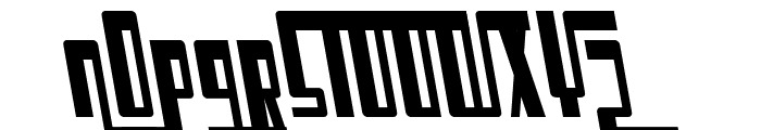 SF Cosmic Age Condensed Oblique Font UPPERCASE