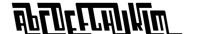 SF Cosmic Age Oblique Font UPPERCASE