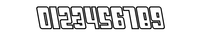 SF Cosmic Age Outline Oblique Font OTHER CHARS
