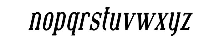 SF Covington Cond Bold Italic Font LOWERCASE