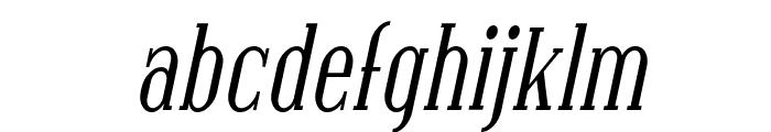 SF Covington Cond Italic Font LOWERCASE