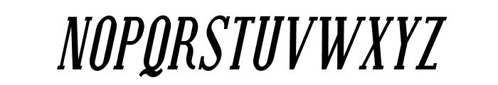 SF Covington SC Cond Bold Italic Font UPPERCASE