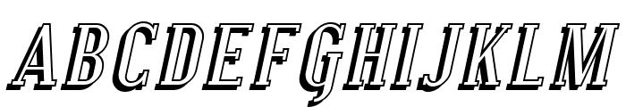 SF Covington Shadow Italic Font UPPERCASE