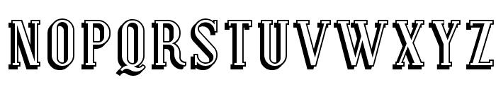 SF Covington Shadow Font UPPERCASE