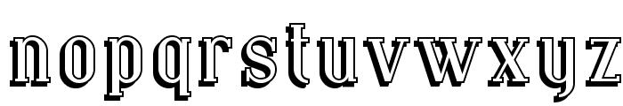 SF Covington Shadow Font LOWERCASE