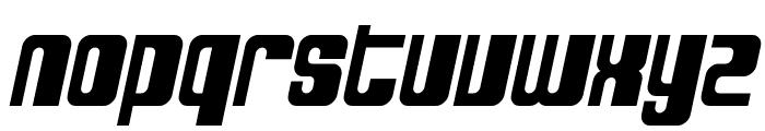 SF DecoTechno Bold Oblique Font LOWERCASE
