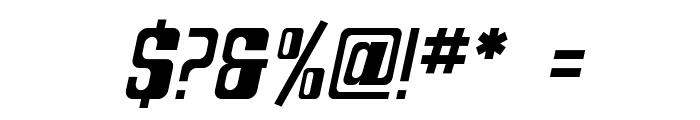 SF DecoTechno Oblique Font OTHER CHARS