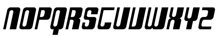 SF DecoTechno Oblique Font UPPERCASE
