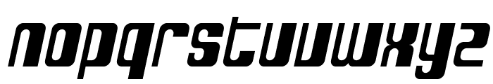 SF DecoTechno Oblique Font LOWERCASE